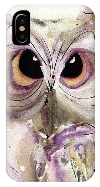 Lavender Owl IPhone Case