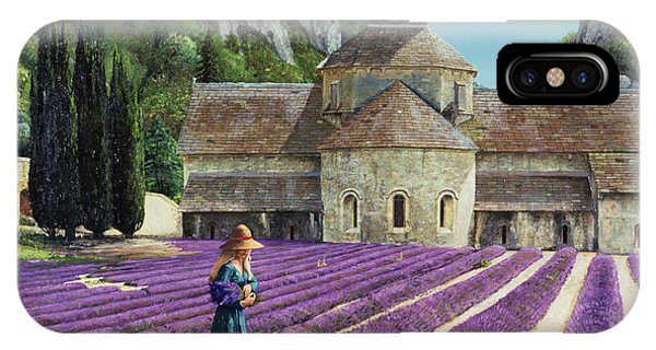 Violet iPhone Case - Lavender Picker - Abbaye Senanque - Provence by Trevor Neal