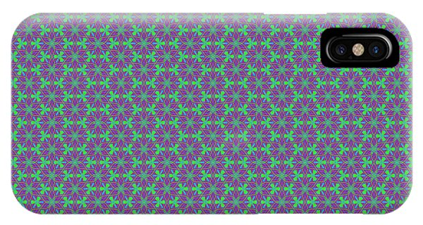 IPhone Case featuring the digital art Lavender Pinwheels by Becky Herrera