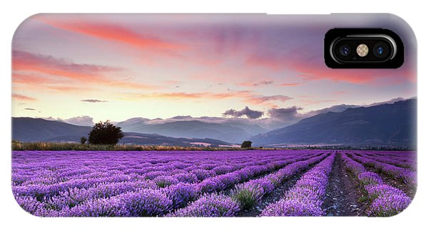 Sky iPhone Case - Lavender Season by Evgeni Dinev