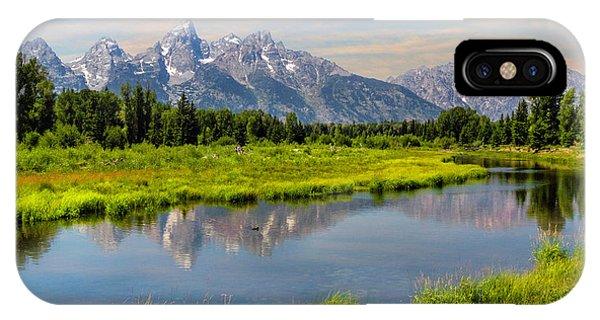 Lavender Teton Peaks  IPhone Case