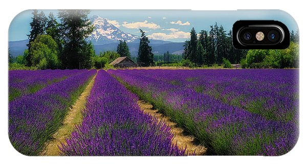 Lavender Valley Farm IPhone Case