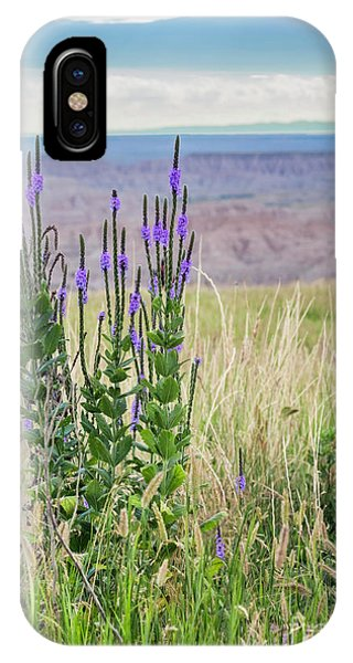 Lavender Verbena And Hills IPhone Case