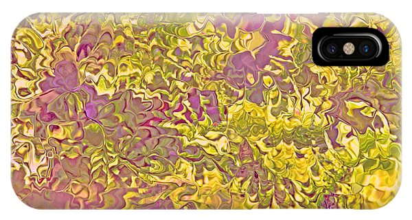 Lavender Yellow Abstract IPhone Case