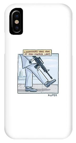 Capitol Building iPhone Case - Lawmakers Take Aim At Gun Control Laws by Peter Kuper