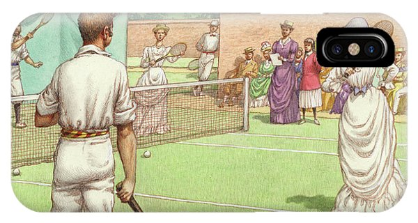 Lawn Tennis Being Played In The Victorian Age IPhone Case