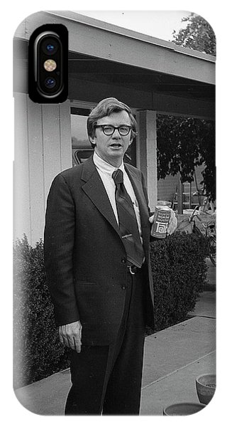 Lawyer With Can Of Tab, 1971 IPhone Case