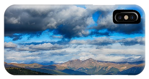 Layers Of Clouds On Mount Evans IPhone Case
