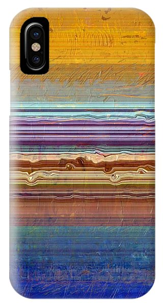 Layers With Orange And Blue IPhone Case