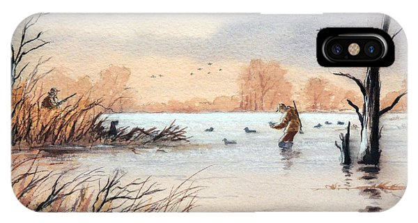 Shooting iPhone Case - Laying Out The Decoys I by Bill Holkham