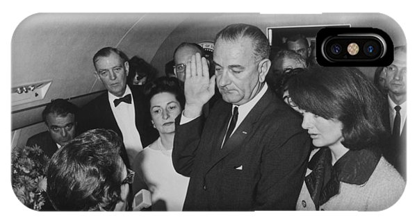 Lbj Taking The Oath On Air Force One IPhone Case