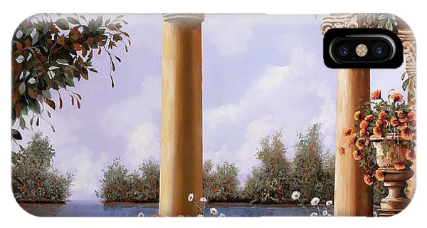 Arched iPhone Case - Le Arcate Chiuse Sul Lago by Guido Borelli