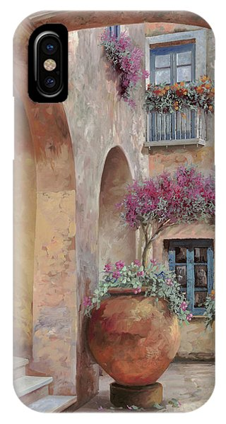 Arched iPhone Case - Le Arcate In Cortile by Guido Borelli