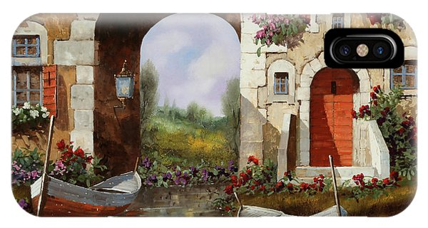 Arched iPhone Case - Le Barche Sotto L'arco by Guido Borelli