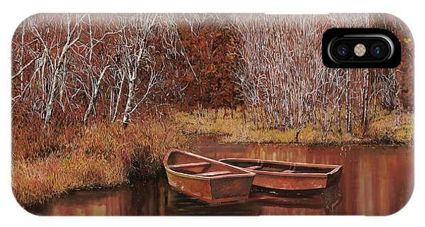 IPhone Case featuring the painting Le Barche Sullo Stagno by Guido Borelli