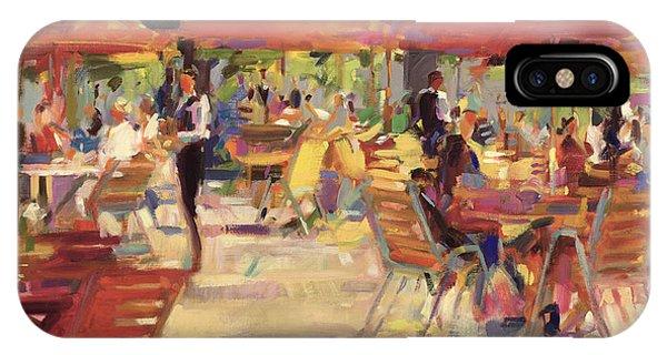 Cafe iPhone Case - Le Cafe Du Jardin  by Peter Graham