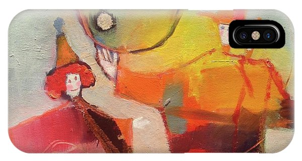 IPhone Case featuring the painting Le Cirque by Michelle Abrams