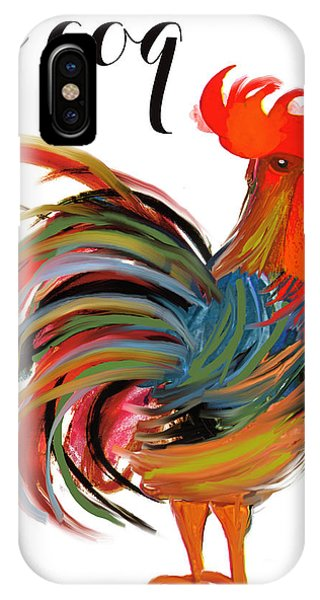 Rooster iPhone Case - Le Coq Art Nouveau Rooster by Mindy Sommers