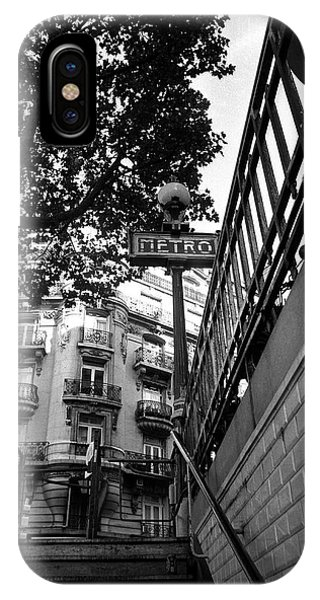 Paris Metro iPhone Case - Le Metro From Below by Kathy Yates