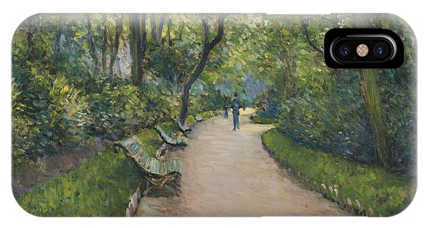 French Painter iPhone Case - Le Parc Monceau by Gustave Caillebotte