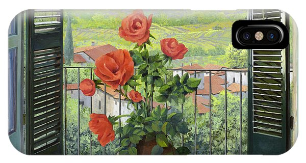 IPhone Case featuring the painting Le Persiane Sulla Valle by Guido Borelli