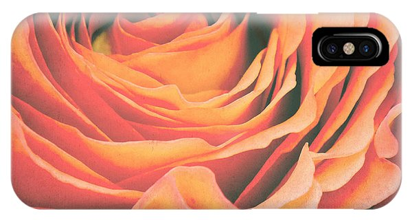 Rose iPhone X / XS Case - Le Petale De Rose by Angela Doelling AD DESIGN Photo and PhotoArt