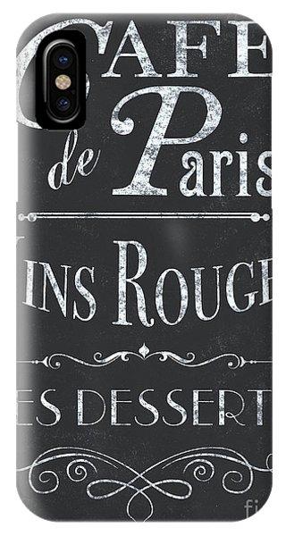 Paris iPhone Case - Le Petite Bistro 2 by Debbie DeWitt