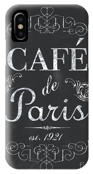 Paris iPhone Case - Le Petite Bistro 3 by Debbie DeWitt