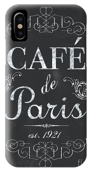 Paris iPhone Case - Le Petite Bistro 3 by Debbie DeWitt