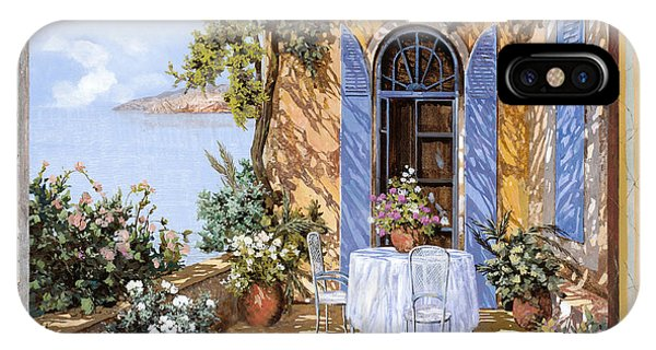 IPhone Case featuring the painting Le Porte Blu by Guido Borelli