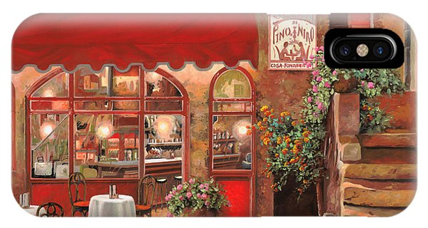 Dinner iPhone Case - Le Rendez Vous by Guido Borelli