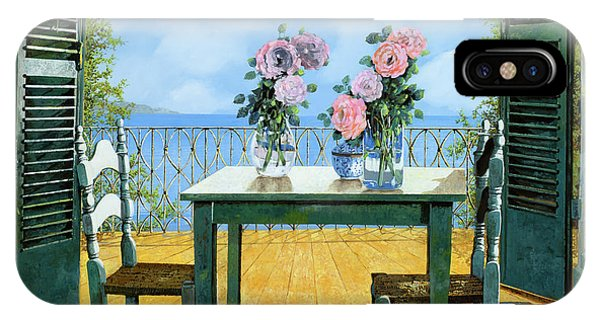 IPhone Case featuring the painting Le Rose E Il Balcone by Guido Borelli