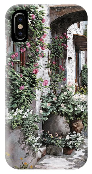 Arched iPhone Case - Le Rose Rampicanti by Guido Borelli