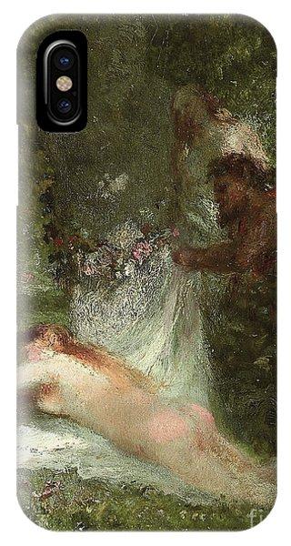 Awakening iPhone Case - Le Sommeil De La Nymphe by Constant-Emile Troyon
