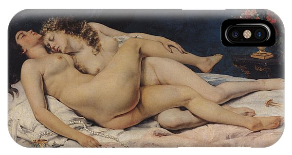 Bed iPhone Case - Le Sommeil by Gustave Courbet
