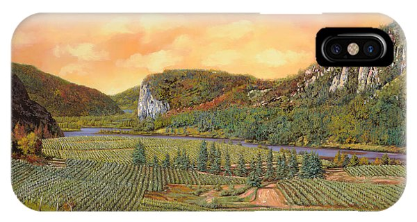 River iPhone Case - Le Vigne Nel 2010 by Guido Borelli