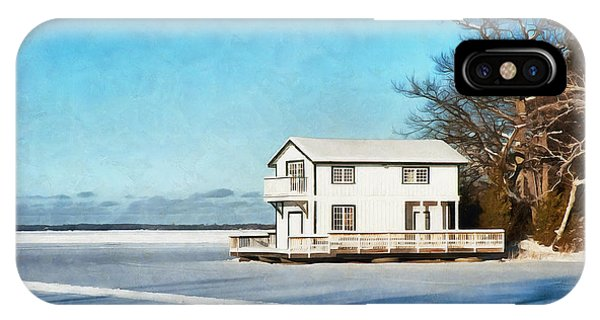 Leacock Boathouse In Winter IPhone Case