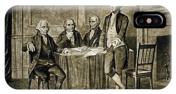 United States Presidents iPhone Case - Leaders Of The First Continental Congress by Augustus Tholey