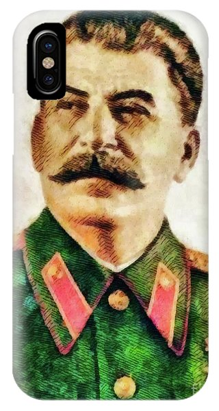 Wwi iPhone Case - Leaders Of Wwii - Joseph Stalin by John Springfield