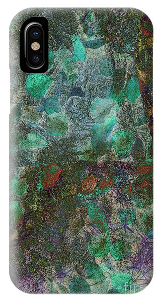IPhone Case featuring the photograph Leaf And Rock Composite 3 by Elaine Teague