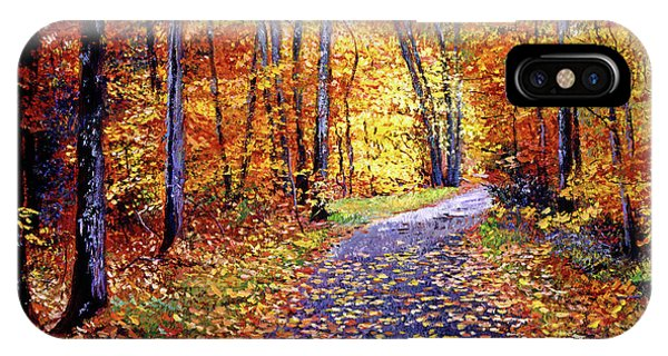 Leaf covered road painting by david lloyd glover for Road case paint