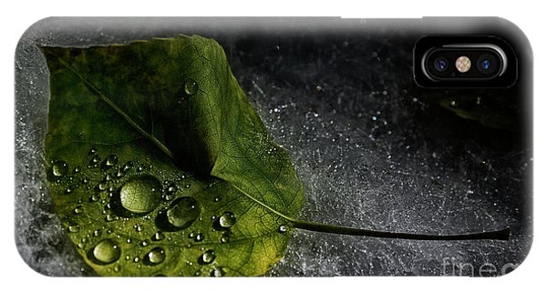 Leaf Droplets IPhone Case