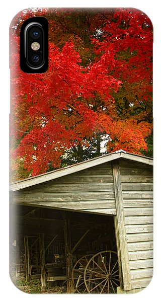 New England Barn iPhone Case - Leaf Peeping by Mindy Sommers