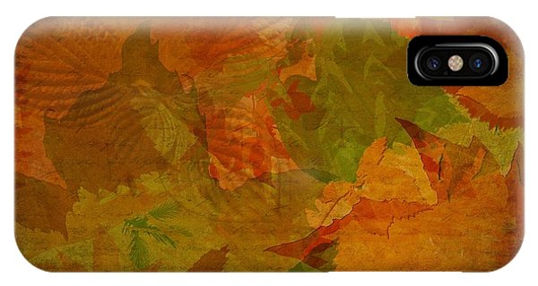 Leaf Texture And Background IPhone Case