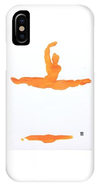 Leap Brush Orange 1 IPhone Case