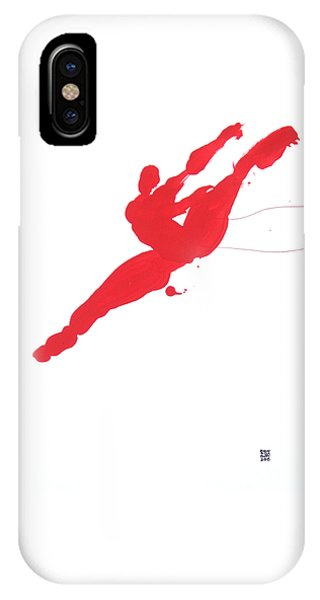 Leap Brush Red 3 IPhone Case