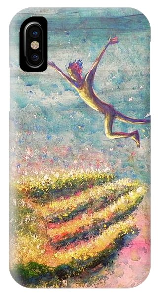 IPhone Case featuring the painting Leap Of Faith by Lisa DuBois