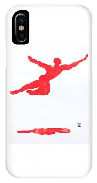 Leap Water Vermillion IPhone Case