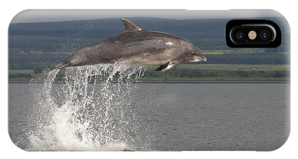 Leaping Bottlenose Dolphin  - Scotland #39 IPhone Case