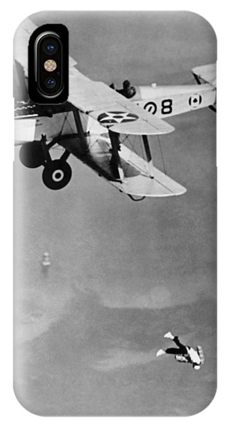 Coronado iPhone Case - Leaping From Army Airplane by Underwood Archives